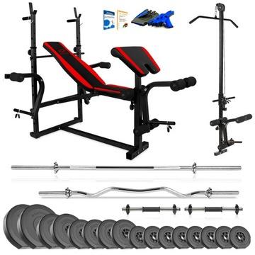 Xylo Gym 96 kg Bench Set + Gryfy + LOAD