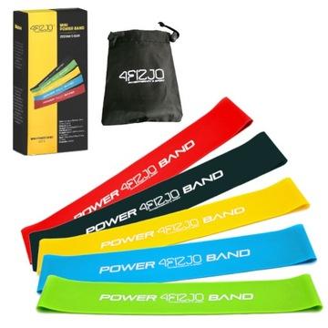 Sada 5 gum pre cvičenie Mini Band 4fizia Fitness