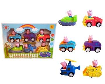 Peppa Pig CARS Cars AUTOMOBILY 6 ks Cars