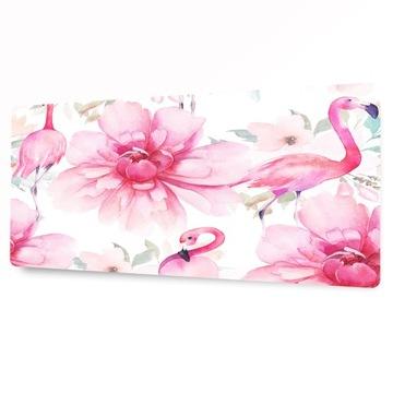 Ochranná podložka na stôl 90x45 plameniaky kvety ružové