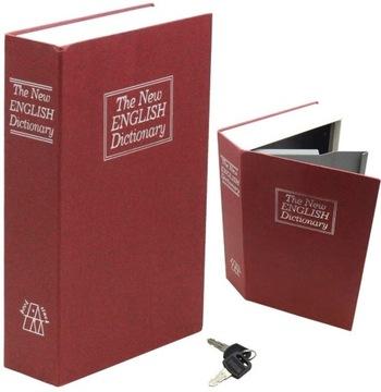 Bezpečné kovové Casket Book pre peniaze Kľúče