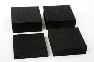 Gumové podložky pod terasové trámy hrubé 10x10cm MIX