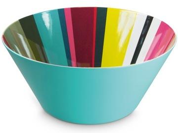 Misa na ovocný šalát farebný misa s vzorom