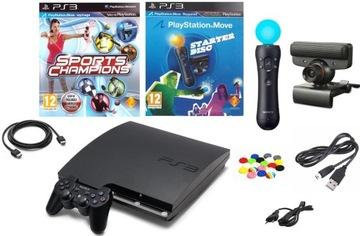 Sony PS3 Playstation 3 Slim Console + Set Set