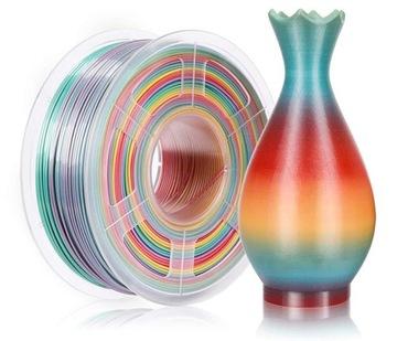 SUNLU PLA 1.75mm 1kg Rainbow Rainbow Multicolor