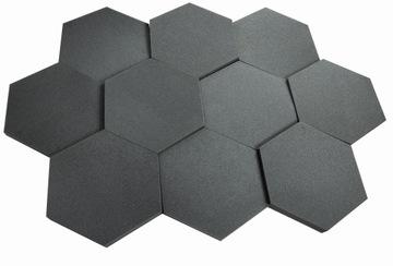 Akustická pena Hexagon Panel 10ks