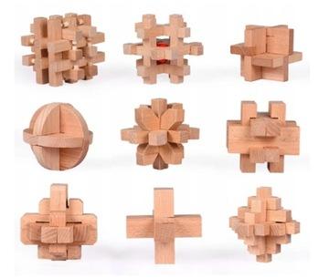 Puzzle Puzzle Drevené puzzle 9 ks DIY