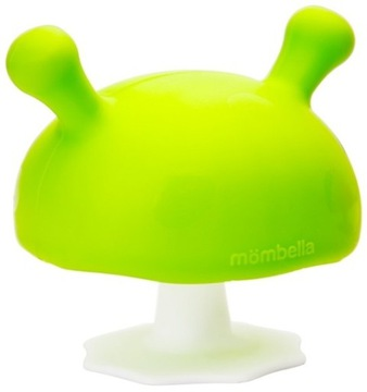 Mombella Upokojujúce hryzátko Hríbovo zelené 3m +