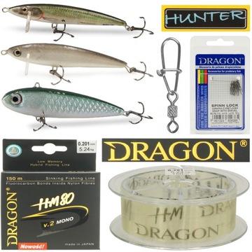 Nastaviť na maľovanie Wobblers Hunter Line Dragon HM80