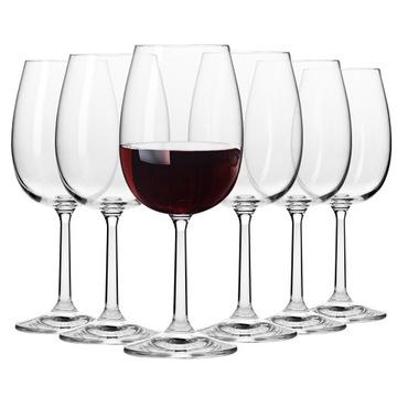 Červené okuliare na víno čisté Krosno 6x 350ml