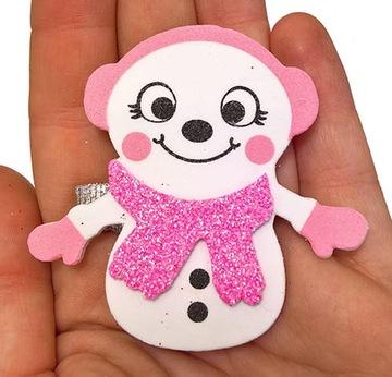 Ručne vyrobený vianočný snehuliak