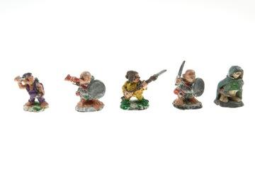 Warhammer Halflings Set 5 Figurines Metal