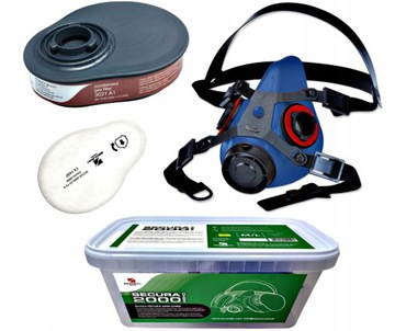 Chemická maska Polovica Secura Plys Spray P2