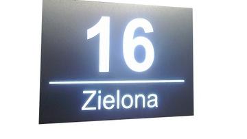 Domové číslo LED svetelná skrinka 30x20cm