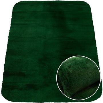 Kúpelňový koberec, mäkký králik 53x80 cm zelený