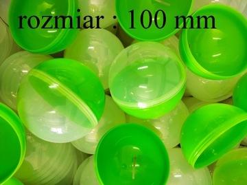 Kapsula prázdna 100mm zelená guľatá guľa 20 ks