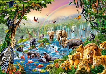 Puzzle Zvieratá Safari Jungle 9+ 500 El Castor
