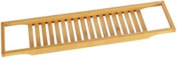 Veľká pohodlná bambusová polica pre bambusový kúpeľný kúpeľ