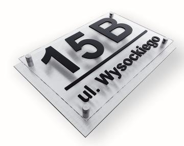 Hliníková adresná doska 3D ŠPZ
