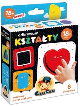 Objavovanie tvarov Puzzle Toddler Triedič CzuCzu