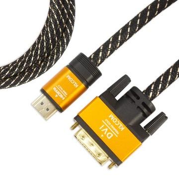 Kábel adaptéra DVI kábel - HDMI 1.5m m / m Full HD