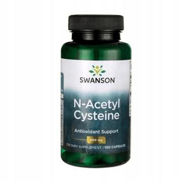 Swanson N-acetyl cysteín (NAC) 600 mg 100 kapsúl.