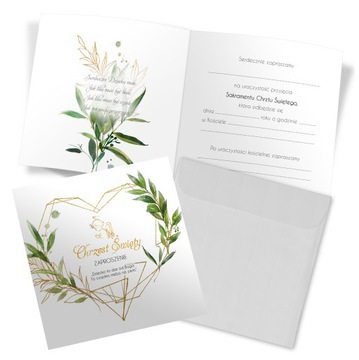 Pozvánky na krst 10ks Obálky Kvetiny Anjel