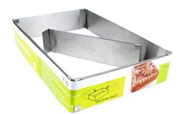 Formulár nastaviteľný pás pre tortu koláč obdĺžnik