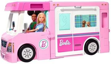 Barbie - Kamper 3in1 - vozidlo + bazén + Chata GHL93