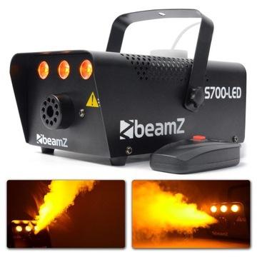 700W LED dymový stroj + efekt plameňa + diaľkové ovládanie