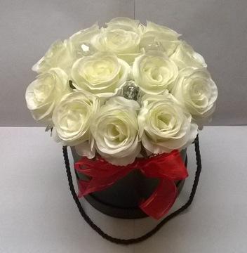 Kvetina box biely ruže