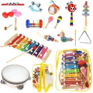 Drevené nástroje pre deti + Batoh Cymbals