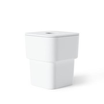 Biela kúpeľňová nádoba s vekom