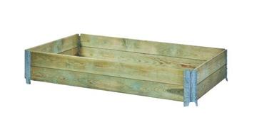Drevený paddock zvýšená vegetariánska 120x80x20