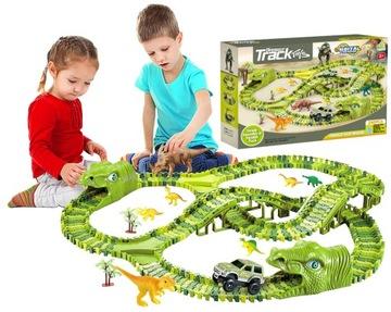 Mega RaceTrack XXXL Dinosaur Dino Park 240 el.