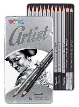 Sada na kreslenie Artis, ceruzka na uhlie Colorino