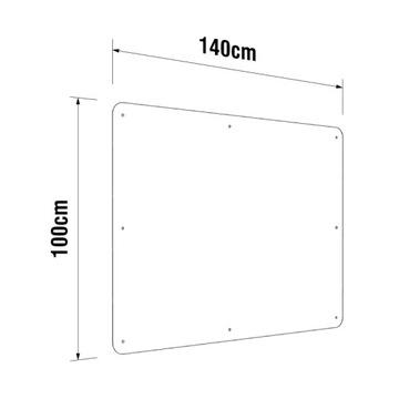 Veľký plexu Plexi Plexi Shield na Lada 100x140