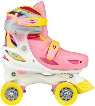 Nastaviteľné detské kolieskové korčule Rainbow NIJDAM 27-30