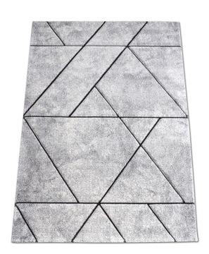 Koberec Diamond Lines 3D 120x170 sivý