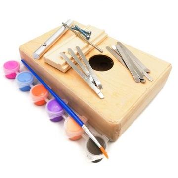 Kalimba na skladanie a maľovanie pre deti DIY