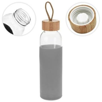 SKLENENÁ fľaša na fľašu s vodou 0,5 l pevne uzatvorená