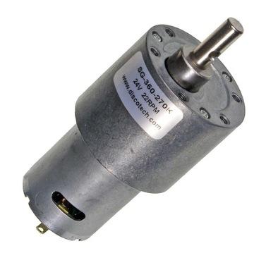 Motor s 24V DC prevodovkou, 18 ot / min, 6,3 kg