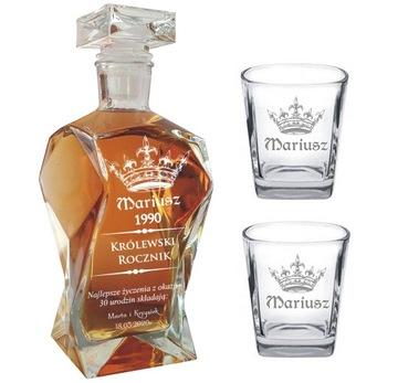 Sada whisky karafa s gravírovaním 2 poháre