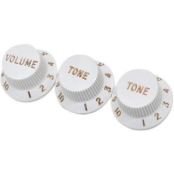 Fender 0992035000 gitarové gombíky Hlasitosť / tón biela