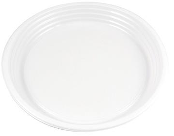 Plastová doska Jednorazová biela 22 cm 100ks
