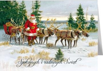 Retro vianočná pohľadnica s Ježiškom s textom 595
