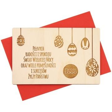 Veľkonočné karty Drevený Engratec Logo Podpis