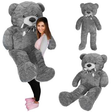 Veľký plyšový medveď 160 cm sivá plyšová hračka