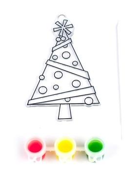 Slávnostné vitráže s farbami Vitrážový vianočný stromček