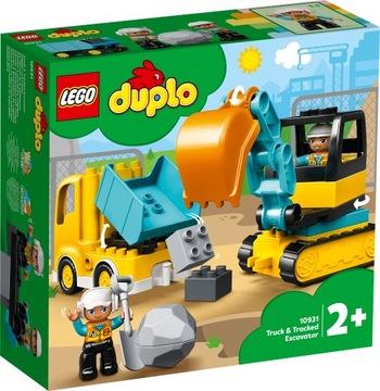 LEGO DUPLO 10931 Kamiónové a pásové rýpadlo